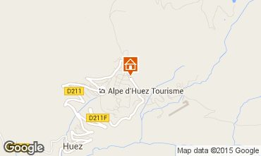 Map Alpe d'Huez Studio apartment 96346
