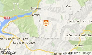 Map Les Orres Apartment 16957