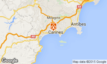 Map Cannes Apartment 93218