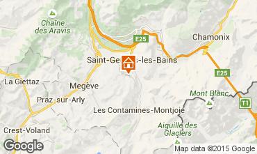 Map Saint Gervais Mont-Blanc Chalet 2572
