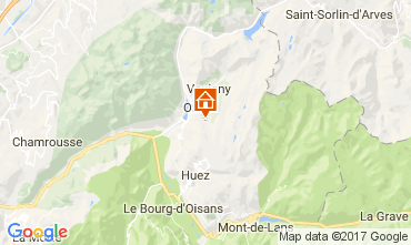 Map Oz en Oisans Chalet 111325