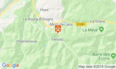 Map Les 2 Alpes Chalet 116881