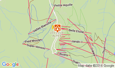 Map Les 2 Alpes Apartment 105180