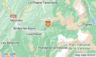 Map Champagny en Vanoise One-room studio flat 30023