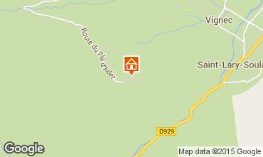 Map Saint Lary Soulan Apartment 73955