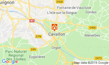 Map Cavaillon Studio apartment 120252