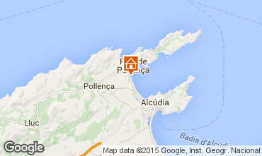 Map Puerto Pollensa Apartment 63957
