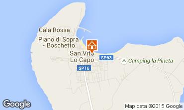 Map San Vito lo Capo Apartment 101669
