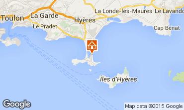 Map Hyères Studio apartment 83506
