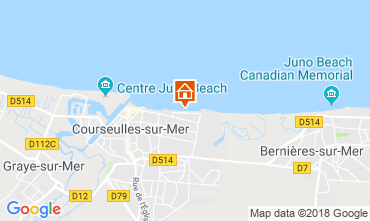 Map Courseulles-sur-Mer Apartment 116398