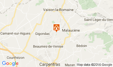 Map Vaison la Romaine Self-catering property 95444