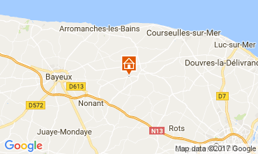 Map Bayeux Self-catering property 111364