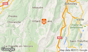 Map Villard de Lans - Corrençon en Vercors Studio apartment 3651