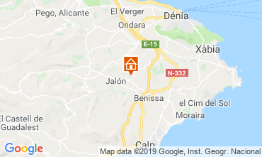 Map Benissa Chalet 118823
