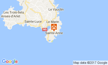 Map Sainte Anne (Martinique) Villa 107589