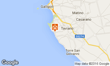 Map Gallipoli Villa 101111
