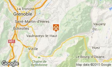 Map Chamrousse Apartment 36119