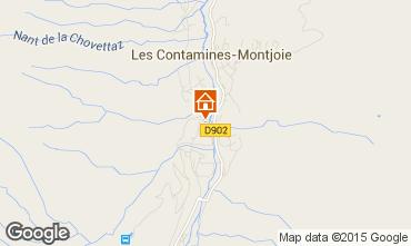 Map Les Contamines Montjoie Apartment 979