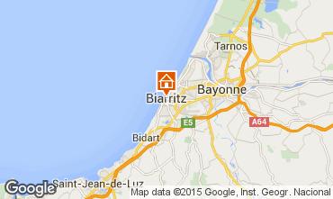 Map Biarritz Apartment 55316