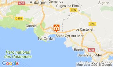 Map La Ciotat Studio apartment 104178