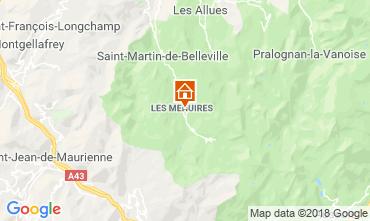 Map Les Menuires Studio apartment 117573