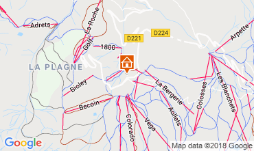 Map La Plagne Studio apartment 116623