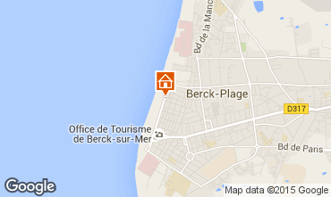 Map Berck-Plage Studio apartment 94795