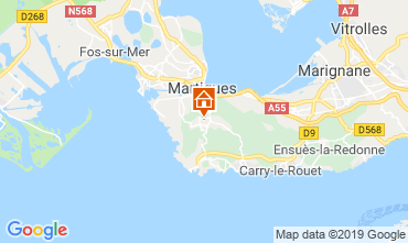 Map Martigues Self-catering property 61577