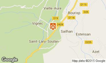 Map Saint Lary Soulan Apartment 4488