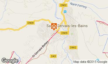 Map Saint Gervais Mont-Blanc Apartment 29903