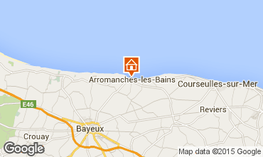 Map Arromanches Studio apartment 93668