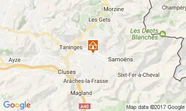 Map Morillon Grand Massif Chalet 74243