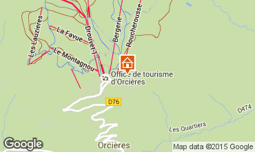 Map Orcières Merlette Apartment 80806