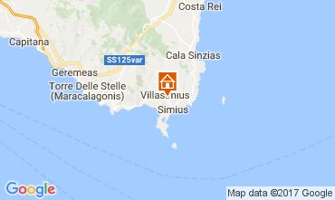 Map Villasimius Apartment 109007