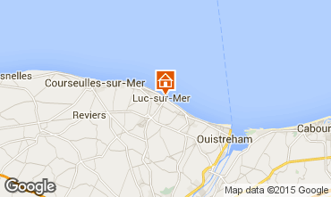 Map Luc sur Mer Apartment 92826