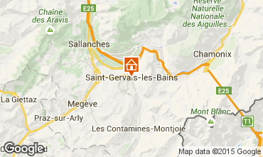 Map Saint Gervais Mont-Blanc Studio apartment 2586