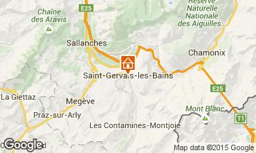 Map Saint Gervais Mont-Blanc Studio apartment 2586