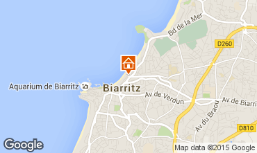 Map Biarritz Studio apartment 44140