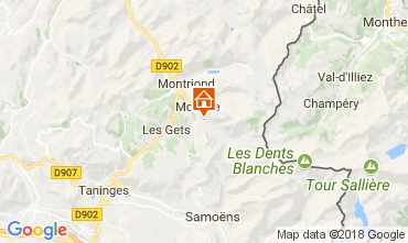 Map Morzine Studio apartment 112892