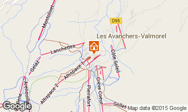 Map Valmorel Apartment 39111