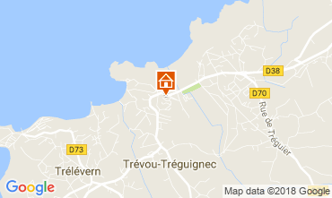Map Trevou Treguignec Studio apartment 115729