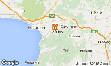Map Scarlino Apartment 88629
