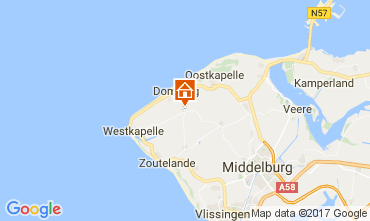 Map Domburg Self-catering property 108693