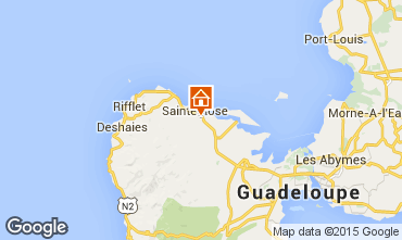 Map Sainte Rose Self-catering property 29670