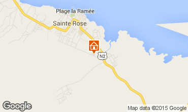 Map Sainte Rose Self-catering property 29670