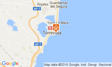 Map Torrevieja Apartment 91265
