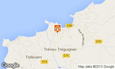Map Trevou Treguignec Apartment 86093