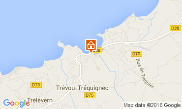 Map Perros-Guirec Apartment 102506