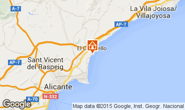 Map Alicante Apartment 8201