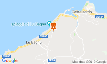Map Castelsardo Apartment 102970